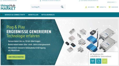 thingsHUB Market: Marktplatz für LPWAN und LoRaWAN IoT-Bausteine präsentiert sich in neuem Design